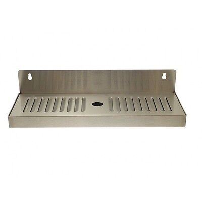 """4"""" X 13"""" Stainless Steel Wall Mount Draft Beer Drip Tray - Removable"""