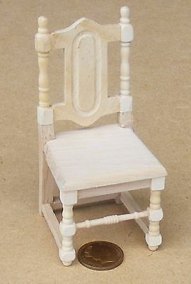 1:12 Scale Single Natural Finish Dining Chair Dolls House Kitchen Accessory 085