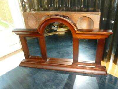 "Fetco Decorative Arch Top Triple Dresser or Wall Display Wood Famed 11.5"" X 20"""