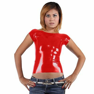 New Red Latex Rubber Classic T-Shirt (one size)