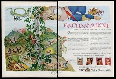 1956 NBC TV Jack and the Beanstalk special; cast photos vintage print ad