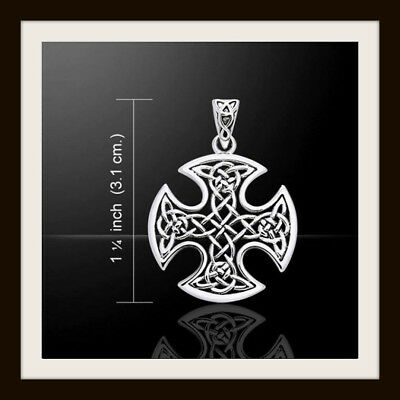 Sterling Silver Celtic Knot Cross Pendant ~ From Peter Stone ~ Free Fast P&p