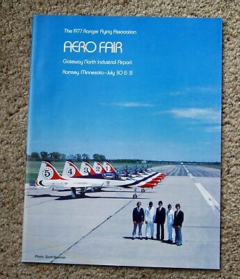 Aero Fair program 1977 vintage aviation Thunderbird Bob Hoover Waco aerobatic