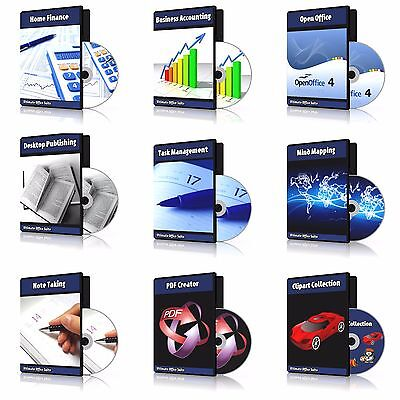 2019 Professional Accounting, Bookkeeping, Home & Personal Finance Software DVD