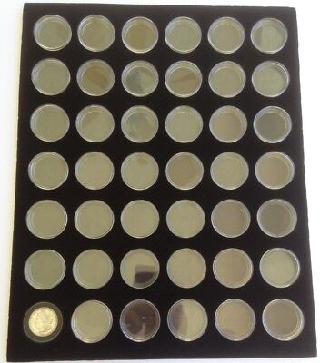 BLACK 16 x 20 DISPLAY INSERT FOR 42 MORGAN / PEACE SILVER DOLLARS (NOT INCLUDED)