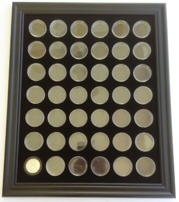 BLACK 16 x 20 DISPLAY FRAME FOR 42 AMERICAN SILVER EAGLE COINS (NOT INCLUDED)