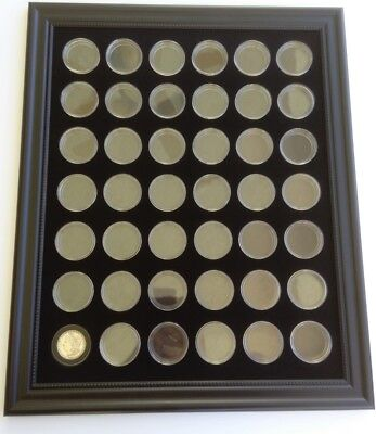 BLACK 16x20 DISPLAY FRAME FOR 42 MORGAN / PEACE DOLLAR COINS (NOT INCLUDED)