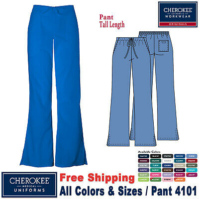 Cherokee Scrubs ORIGINAL Women's Natural Rise Flare Leg Medical Pant(4101)_T