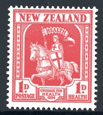 New Zealand 1934 Health - Crusader Mint Unhinged