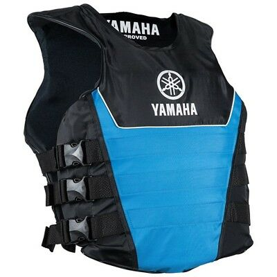 Yamaha Side Entry Nylon Life Jacket Vest PFD Blue Large/X-Large