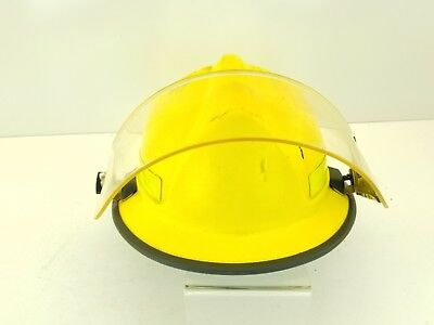 Morning Pride HDOLFCOOHK YELLOW V Fire Helmet with Face shield sz 6-9.5