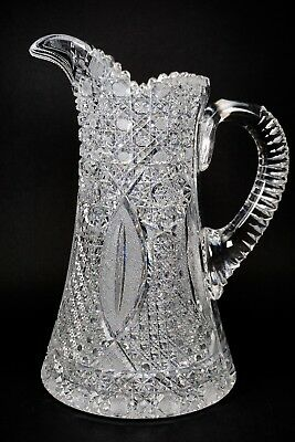 ABP ABCG American Brilliant Cut Glass Pitcher - SHOWSTOPPER BEAUTIFUL!