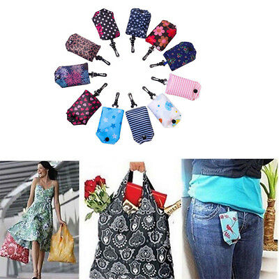 Foldable Fashion Eco Handbag Reusable Bag Key Chain Tote Pouch Shopping Bags