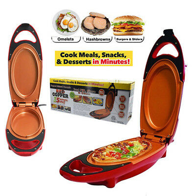 5-Minute Chef-Non-stick Red Copper Omlette Maker Cooker Cooking Pan AU