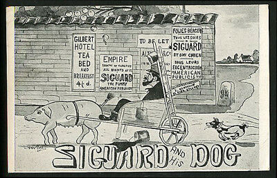 French CIRCUS Performer SIGURD & His DOG Comic CLOWN 1915s -50% Off SALE!