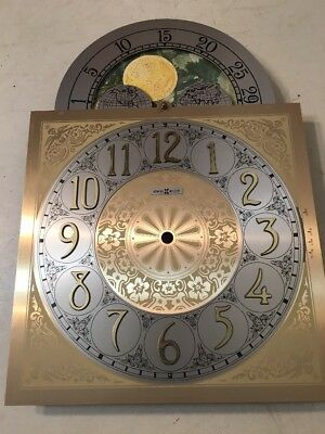 Howard Miller Triple Chime Grandfather Clock Dial W/ Moonphase