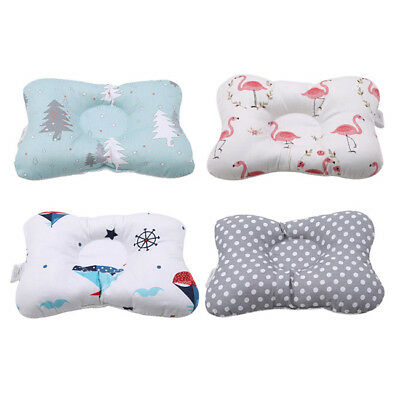 Baby Infant Newborn Prevent Flat Head Neck Syndrome Support Square Pillow LG