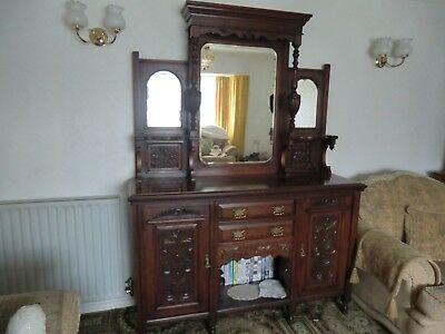 Old, Original, Victorian Mirrored Sideboard