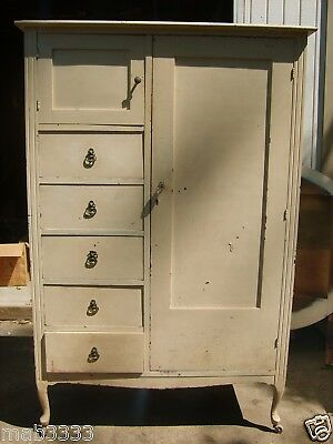 Vintage Armoire 4 drawers, 1 Cubbie and 1 Hanging Area for Clothes-Reduced 10%