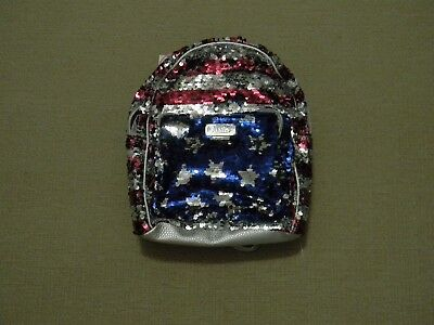Nwt Justice Girls American Flag Flip Sequin Mini Backpack