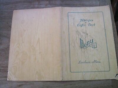 Rehoboth, DE. HENLOPEN COFFEE DECK Menu, Very Old & Shabby on Corners