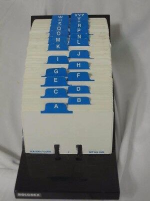 Rolodex V Glide Model No GL-24 Phone Address File Index Desktop Vintage