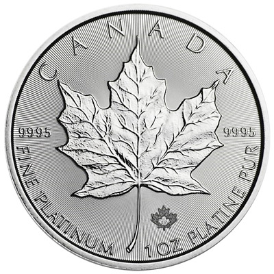 2018 $50 Canadian Platinum Maple Leaf 1 oz Brilliant Uncirculated