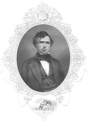 President FRANKLIN PIERCE Kansas-Nebraska Fugitive Slave Act, 1856 Art Engraving