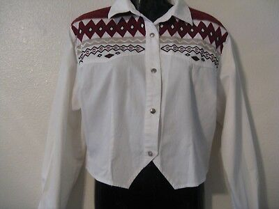 Vintage Woman's Western Fitted Shirt-Top - Size XL - SIDE SADDLE brand