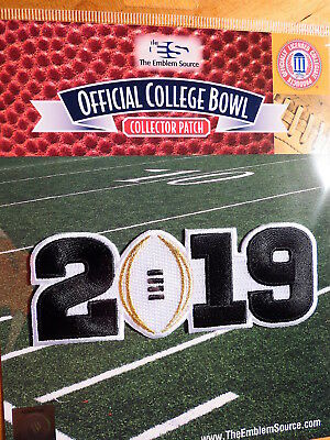 NCAA College Football White 2019 CFP Championship Game Patch Worn By Clemson
