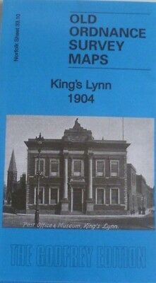 OLD ORDNANCE SURVEY DETAILED MAPS KING'S LYNN NORFOLK  1904 Godfrey Edition New