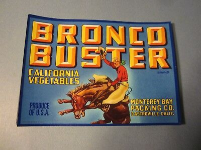 Wholesale Lot of 50 Old Vintage 1940's - BRONCO BUSTER - Western COWBOY LABELS