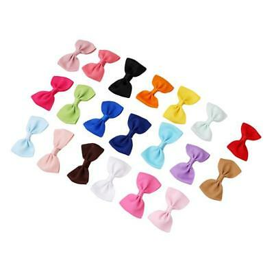 20Pcs Baby Kids Girls Grosgrain Ribbon Boutique Hair Bows For Teens Toddlers W