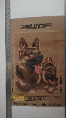 LUC Creations Tapestry  Canvas - Bergers ( Dogs) - 35 x 25cm