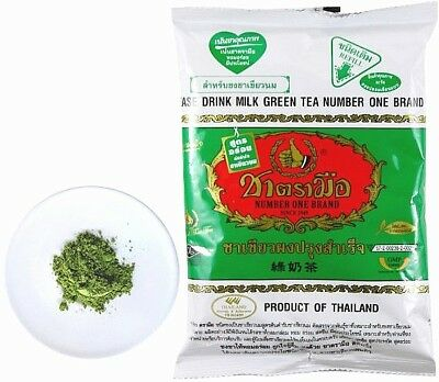 Thai Milk Green Tea Drink Hot or Cold beverages Chatramue Brand 200g 1 ...