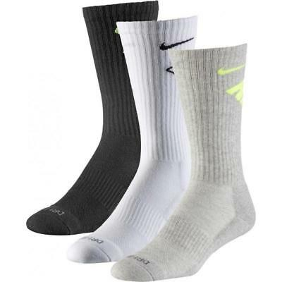 NIKE 3ER PACK Dri Fit Fly Crew Herren Tennissocken Black