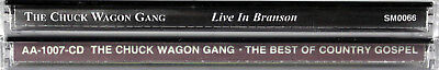 The Chuck Wagon Gang NEW 2 SET CDs Live In Branson & The Best of Country Gospel