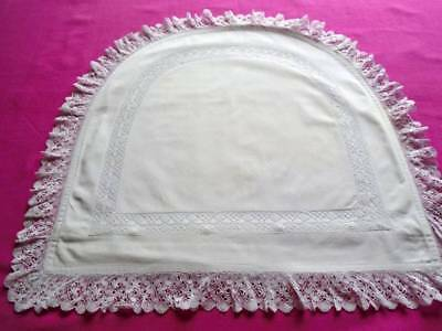 Unusual Vintage Lingerie~Bedroom Cushion Cover~Pretty Lace Trim~Tiny Initials Cm