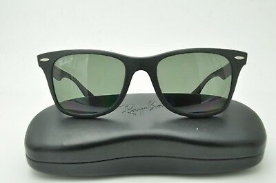 289ab4d3a7 ... Large Metal RB3025 - Silver W3277 Sunglasses - Crystal Grey. Ray Ban RB  4195 Sunglasses 601-S 9A Matte Black   Green Polarized 52mm