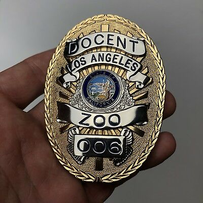 Los Angeles Zoo Docent Badge State of California SMITH & WARREN