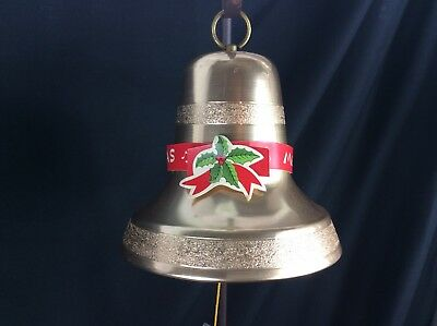 Vintage Christmas Bell Decoration Cathedral Bell Music Box Japan 1960s Box