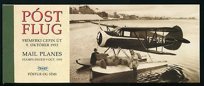 Iceland Scott #776b MNH BOOKLET COMPLETE Mail Seaplanes AVIATION CV$22+