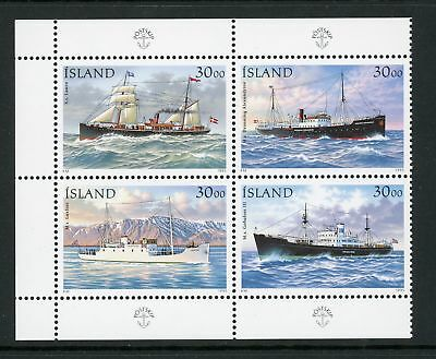 Iceland Scott #806a MNH BLOCK Post Boats SHIPS CV$5+