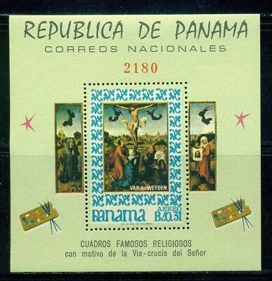 Panama Scott #476F MNH Famous Religious Paintings PERF CV$20 CLEARANCE SALE