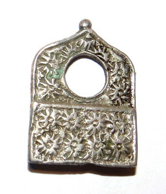 Ancient Silver Ottoman Pendant Hand Chased 1200 AD ~ Beautiful Silversmith Work