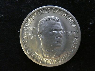 USA 1/2 Half Dollar Booker T. Washington 1946 Silber