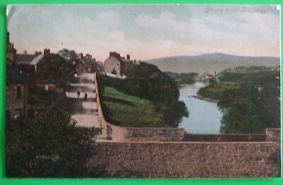 VALENTINES SERIES Postcard POSTED 1907 VIEW FROM RAILWAY BRORA SUTHERLAND