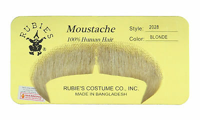 Rubie's Winchester Human Hair Winchester Fake Moustache (Blonde)