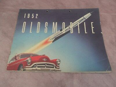 catalogue publicité voiture ancienne OLDSMOBILE 1952 super 88 sedan