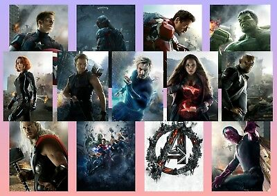 Avengers: Age of Ultron, Iron Man, Thor, Black Widow  Textless A5 A4 A3 Posters